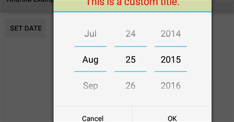 relativelayout set height how to create a custom title for datepickerdialog in android