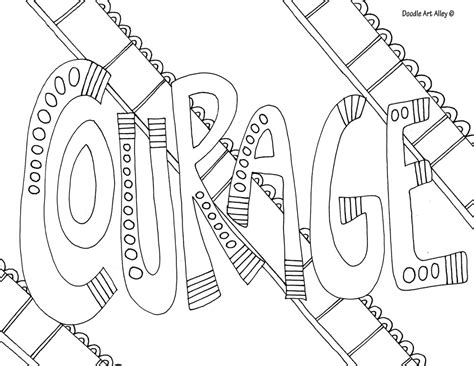 make a coloring page with words word coloring pages doodle art alley