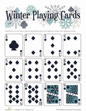 printable playing cards without numbers playing cards worksheet education com