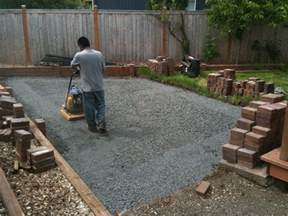Installing A Patio With Pavers Portland Landscaping Landscaping In Portland Oregon