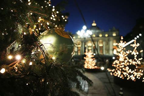 as vatican lights christmas tree pope reflects on