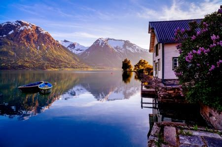 lake house lakes nature background wallpapers
