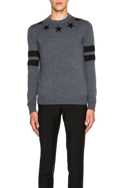 New Givency 207 lyst givenchy s banded neck sweater in gray