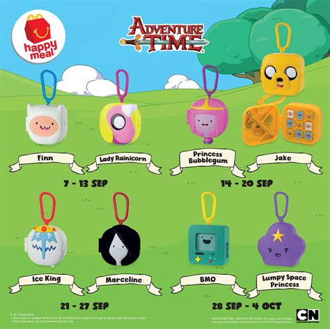 a for all time toys mcdonald s happy meal free adventure time toys until 4
