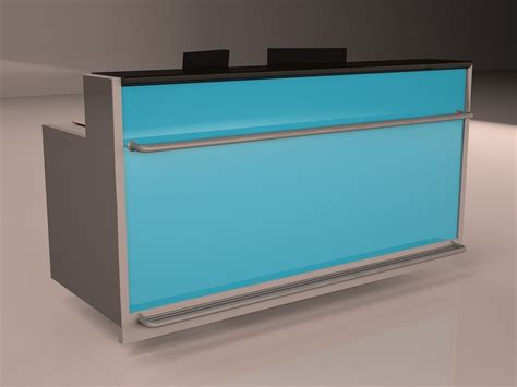 check in desk 3d model max cgtrader