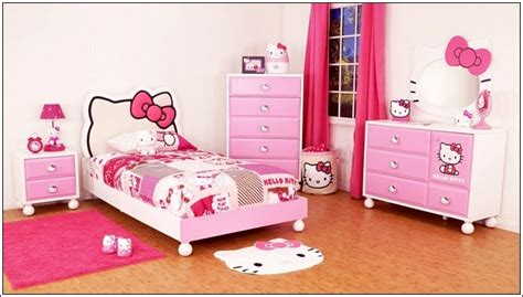 hello kitty bedroom set turn your little girl s room to a hello kitty world