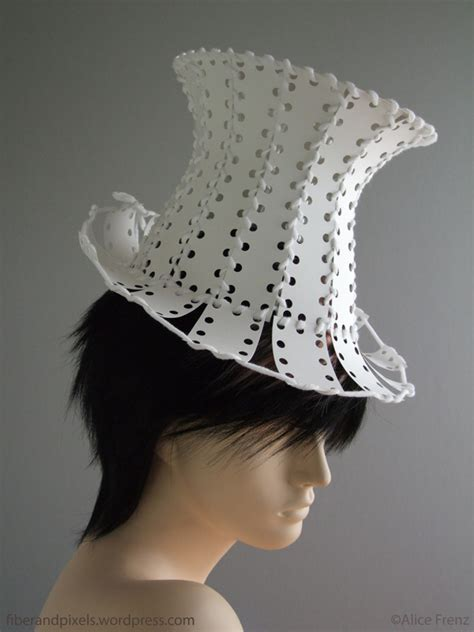 How To Make A Top Hat Out Of Paper - sewing card top hat fiber and pixels