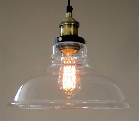 industrial glass pendant light vintage hanging ls lambert chain pendant with 9