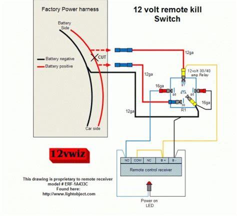 12 volt remote kill switch diagram by 12vwiz sg gear