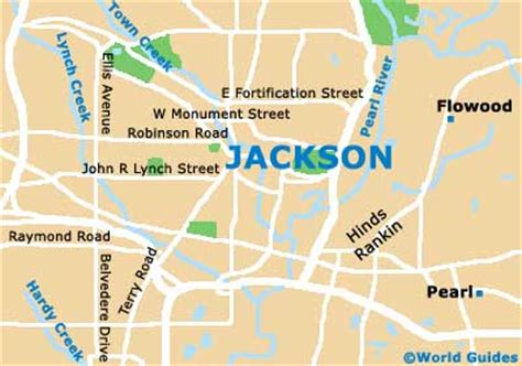 jackson map jackson maps and orientation jackson mississippi ms usa