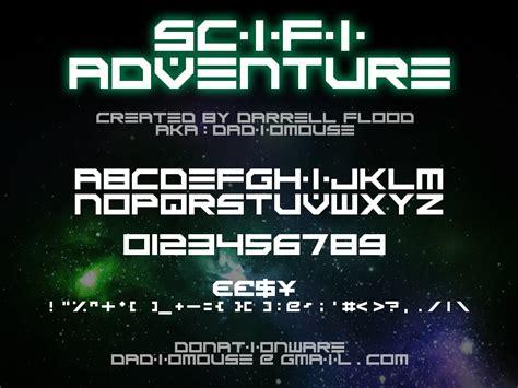 dafont adventure scifi adventure schriftart dafont com