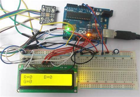 arduino color sensor arduino based color detector using color sensor tcs230