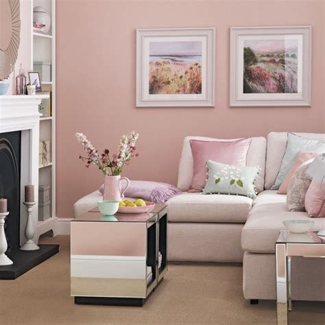 Pink Living Rooms | candy floss pink living room living room decorating