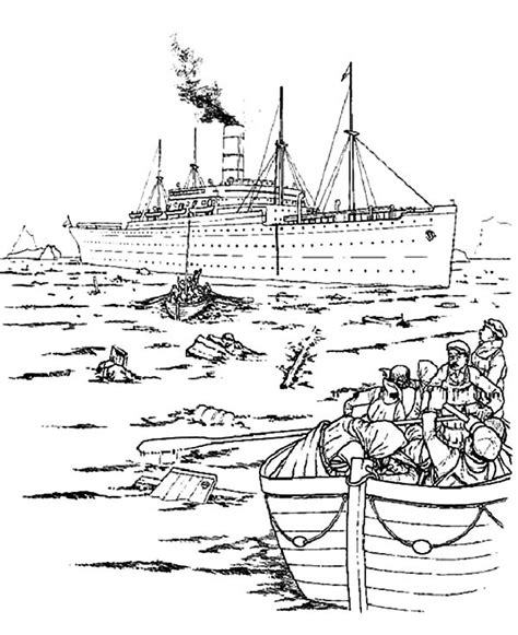 titanic underwater coloring pages titanic sinking drawing sketch coloring page
