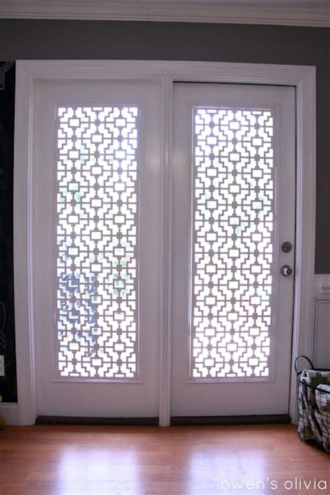 window glass covering top five diy patio door window treatments