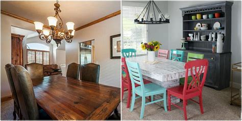 Dining Room Makeovers Before And After A Dining Room Makeover That Adds Playful Color Dining