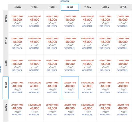 Delta Low Fare Calendar 2 Days Only Delta Skymiles Flash Sale To For As
