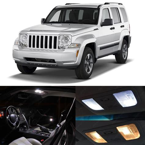 Jeep Liberty Interior Lights 5x White Led Lights Interior Package Kit For 2008 2012