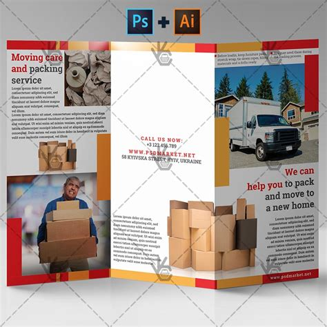 moving and packing moving and packing service premium tri fold psd ai