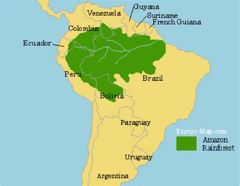 amazon map the amazon rainforest