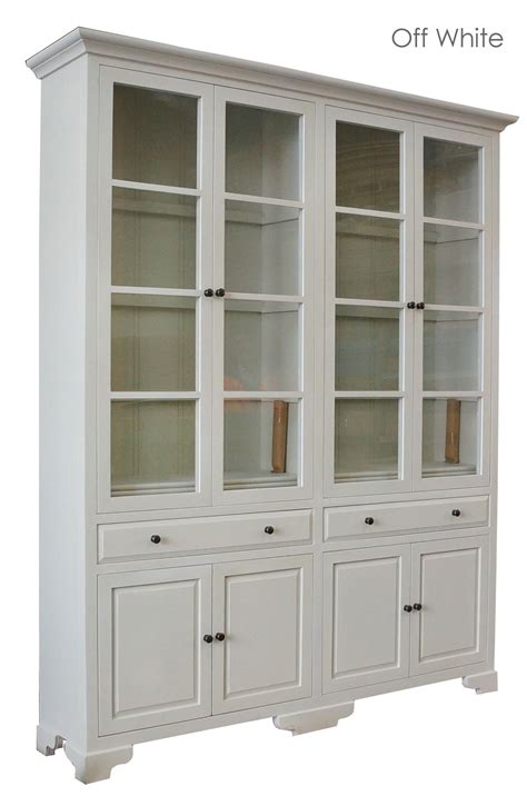 Classic Cupboard - provincial classic display cabinet with tempered