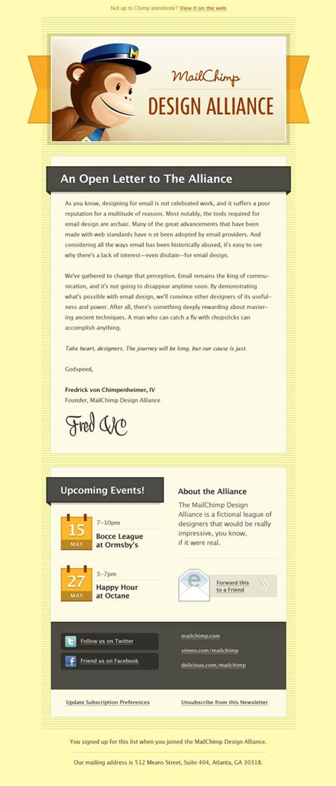 Mail Chimp Templates On Behance Mailchimp Newsletter Templates