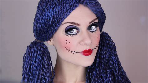 tutorial makeup halloween doll scary doll make up tutorial for halloween youtube