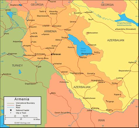 map of armenia armenia map and satellite image