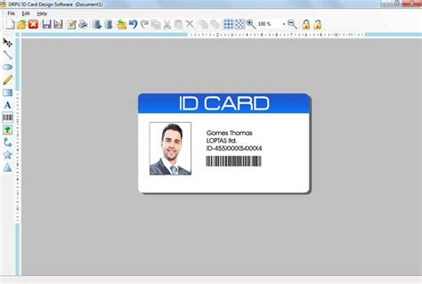 make photo id cards id card designing software create student employee