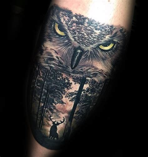 owl tree tattoo designs 100 forest designs for masculine tree ink