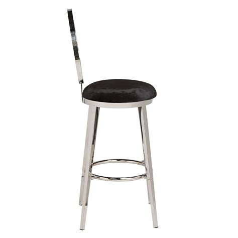Bar Stools Silver by Quot O Quot Bar Stool Silver Black High Style