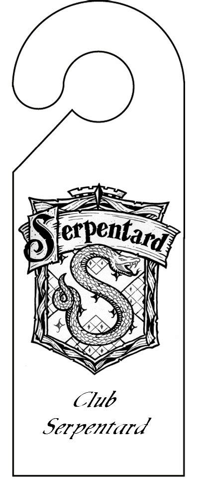 decoupage porte pancarte de porte serpentard d 233 coupage a imprimer plaque