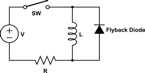 why we use free wheeling diode use of flyback diodes electrical engineering stack exchange