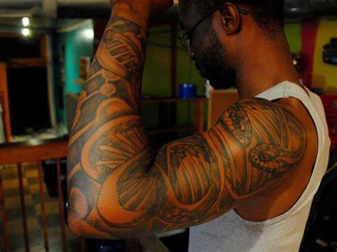 tribal tattoos on black skin 1000 ideas about american tattoos on