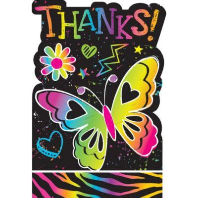 doodle thanks neon doodle thank you notes 8ct city