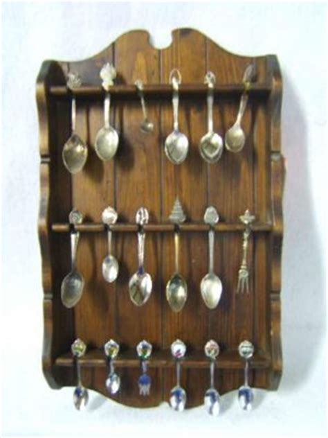 Collectible Spoon Rack by Spoon Rack And 18 Collector Spoons 504936
