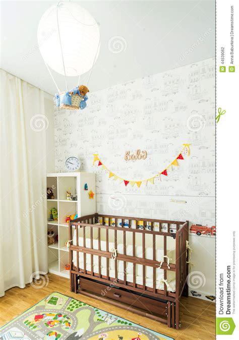 babys bed baby s bedroom stock photo image 44539062