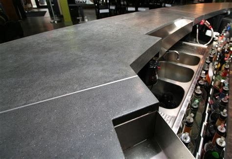 Cement Bar Top by Portfolio Elements Artisan Concrete Portfolio Custom