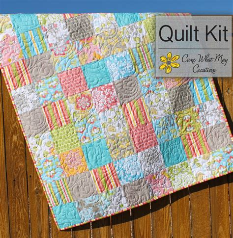 Baby Quilt Kits Priscilla Quilt Kit Baby Quilt Kit Pastel Baby Quilt