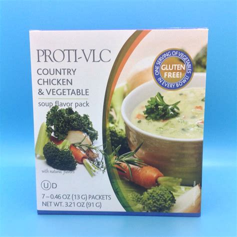 proti vlc country chicken vegetable soup flavor pack  oz  packets net wt oz