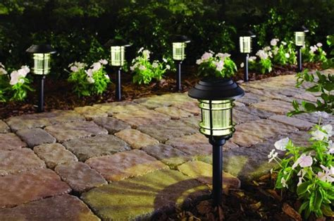 home depot solar path lights home depot 6 pack of solar led pathway lights for 10
