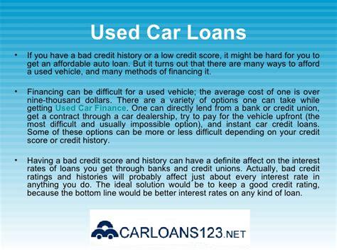 bad credit car loans  interest rate car loans