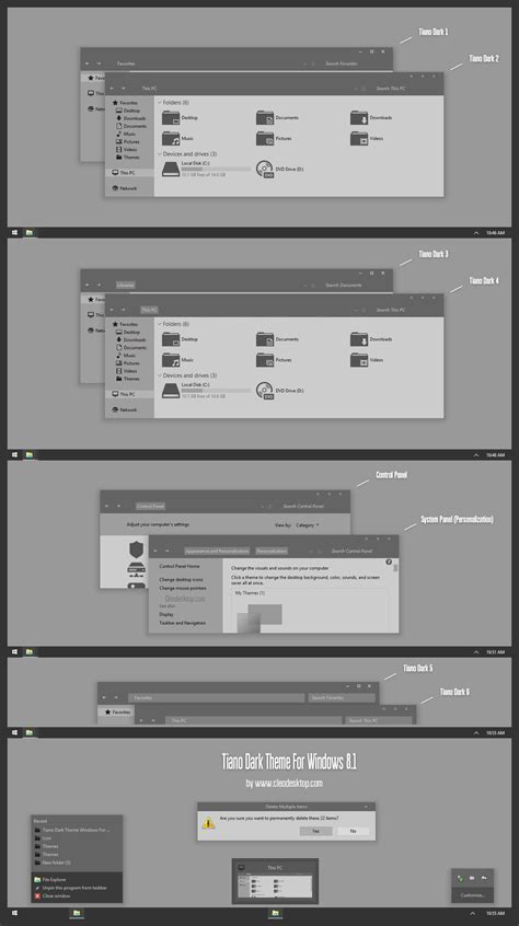 black theme for windows 8 1 with white titles tiano dark theme windows for windows 8 1 by cleodesktop on