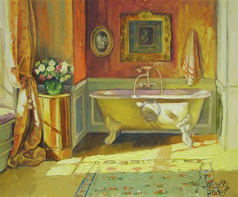 paintings for the bathroom victorian bath by jonel scholtz