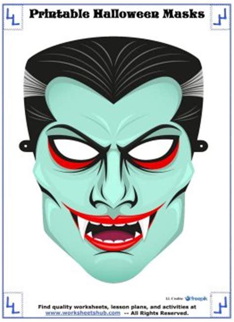 printable dracula mask printable halloween masks