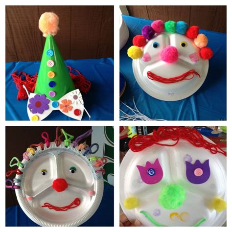 carnival crafts for carnival and clown themed crafts for preschoolers