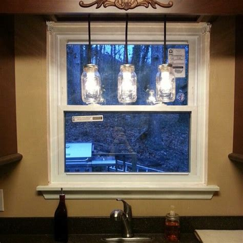 light above kitchen sink mason jar light above sink projects we ve done