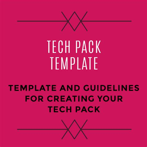 tech pack template free tech pack template startup fashion