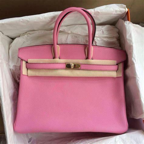 Hermes Bag 13 birkin bag pink 35cm gold hardware hermes crocodile birkin bag