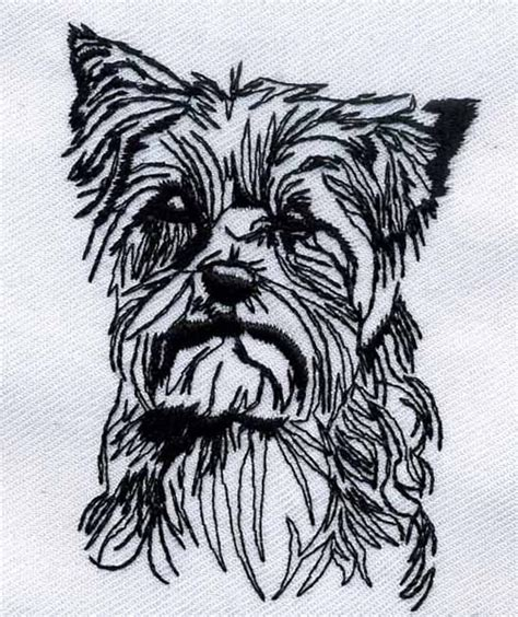 embroidery design yorkshire terrier yorkshire terrier embroidery design from bella mia designs